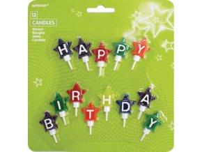 Sviecky happy birthday hviezdicky