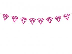 Girlanda diamanty ruzove