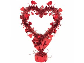 Dekoracia na stol cervene srdce