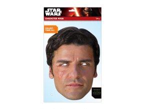Papierová maska Poe (Star Wars)