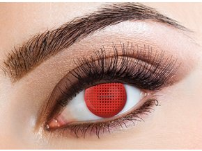 Eyecasions Red Mesh Contact Lenses