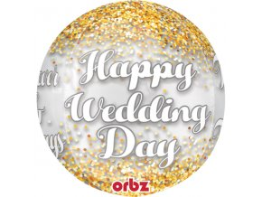 Balon Happy Weding day