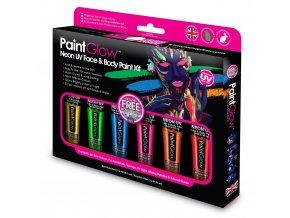 Neon UV farby na tvar