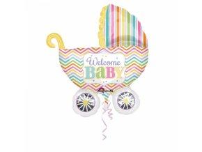 Fóliový balón Detský kočík