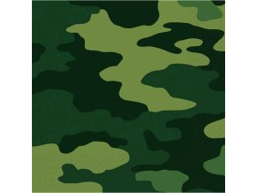 Servítky vojenské maskáčové 16 ks