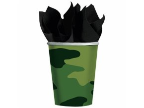 Poháre vojenské maskáčové 8 ks