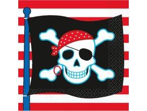 Servítky Pirátska oslava 16 ks