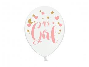 Balónik pastelový biely Je to dievča