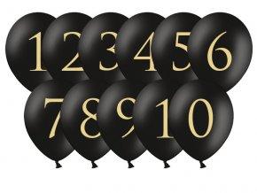 Čierne Balóny na označenie stolov