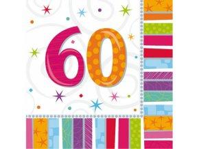 Servítky 60. narodeniny 33 x 33 16 ks