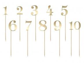 Zlaté čísla na stôl