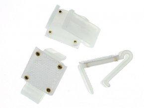 Plastové úchytky na sukne na stôl