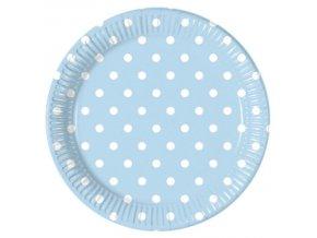 Bodkovane taniere modre