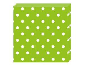 Servitky zelene bodkovane