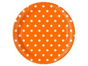 Bodkovane pohare oranzove