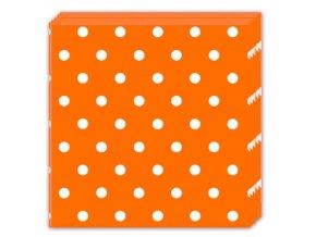 Servitky bodkovane oranzove