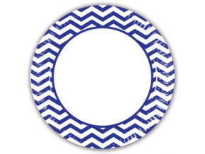 Pruhovane tanier modre