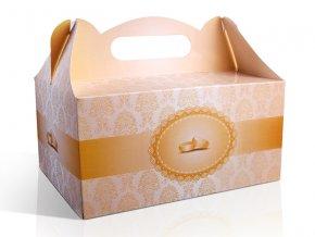 svadobna krabica na vysluzku