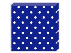 Bodkovane servitky modre