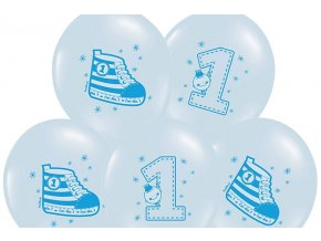 Lacny balon 1 narodeniny modry
