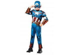 Kostým Captain America detský deluxe