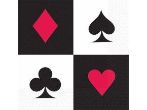 Servítky Casino 16 ks