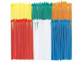 Plastové napichovadlá Šípy 250 ks