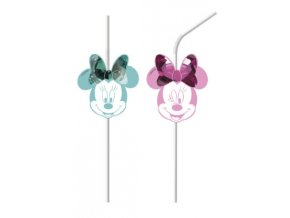 MINNIE PARTY GEM MEDALLION STRAWS ICON
