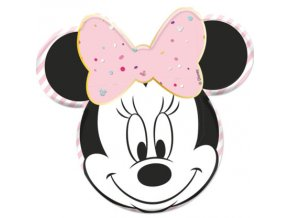 MINNIE PARTY GEM SHAPED PLATE ICON