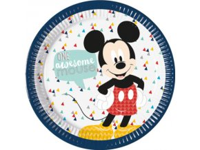 MICKEY AWESOME PLATE 23cm ICON