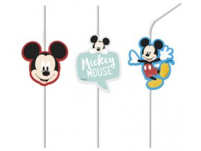 MICKEY AWESOME MOUSE MEDALLION STRAWS3 STRAWS ICON