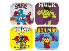 AVENGERS POP COMIC SQUARE PLATES