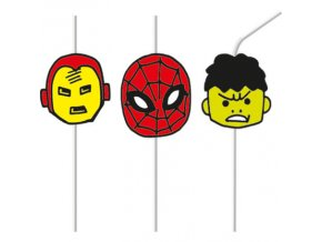 AVENGERS PC MEDALLION STRAWS3 STRAWS ICON