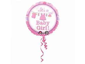 Fóliový balón Baby Girl 43 cm