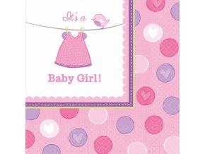 Servítky Baby Girl 16 ks