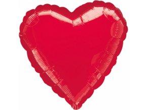 Fóliový jumbo balón Srdce červené