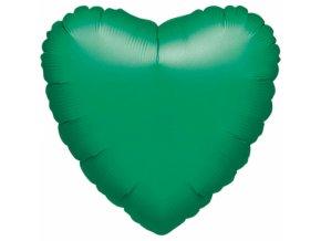 Fóliový balónik srdiečko zelené