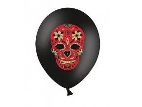 Balón s motívom Dňa mŕtvych 30 cm