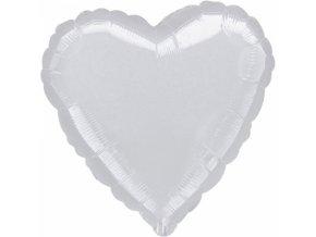 Fóliový balónik srdiečko strieborné