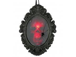 Visiaca dekorácia - Zrkadlo s kostrou