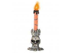 Dekorácia - LED sviečka v tvare Lebky