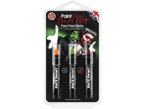 paint glow fright fest face paint sticks wholesale 25055