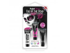 HP65 UV Day of the Dead Face Paint