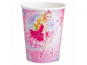 Poháre Barbie a ružové balerínky 8 ks