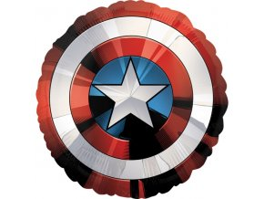 Fóliový jumbo balón Štít Captain America