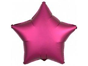 Fóliový balón Hviezda - Ružová 43 cm
