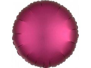 Fóliový okrúhly balón - Ružový 43 cm