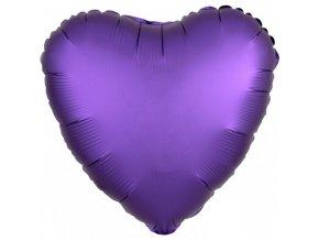Fóliový balón Srdce - Fialové 43 cm