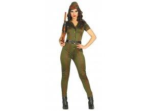 Kostým sexy vojačky (Veľkosti M)