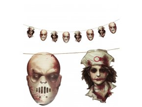 Girlanda - Halloweenske tváre
